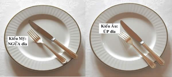 Cách sử dụng dao và nĩa khi ăn xong