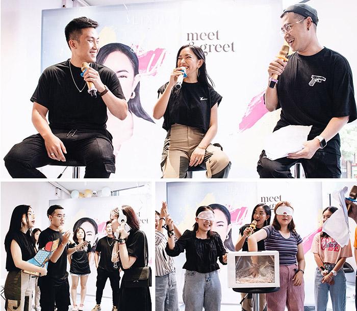 Châu Bùi đã chọn cửa hàng Lixibox làm địa điểm check in của giới beauty Sài Gòn